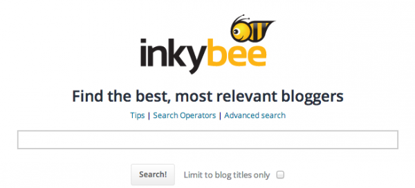 Inkybee blog search engine